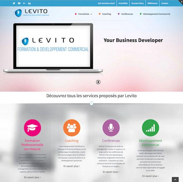 Site internet Levito