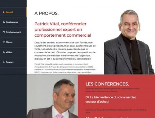 Création du site internet Patrick Vital, Le Conférencier